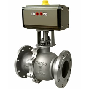 Q641H-16C Pneumatic metal seat ball valve