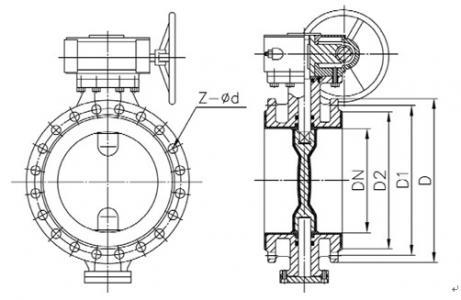 D341X-10 flange butterfly valve