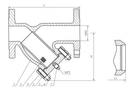 Cast steel filter 150/300Lb