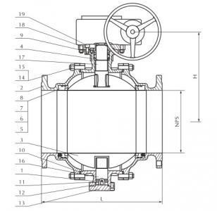 Cast steel trunnion mounted ball valve 600lb