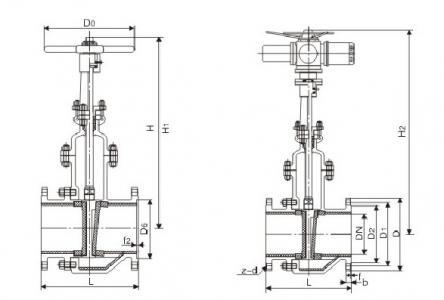 Ceramic lined slag gate valve