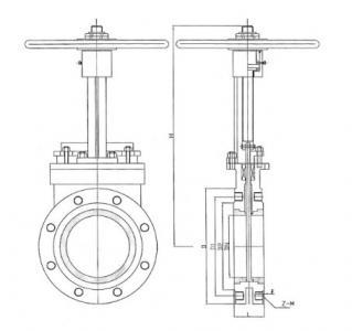 Ceramic lined knife gate valve