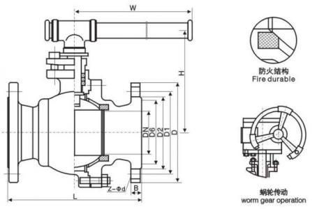 Q41F-16C Carbon steel ball valve