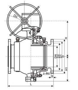 Q347F Trunnion mounted ball valve