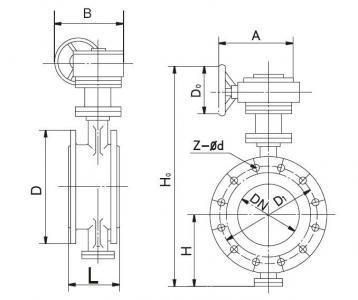 Triple eccentric metal seat butterfly valve