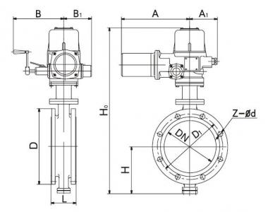 D943H Electrical butterfly valve