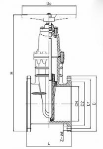 Z45X-10Q Ductile iron gate valve