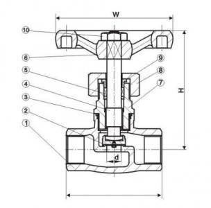 J11W Female screw globe valve