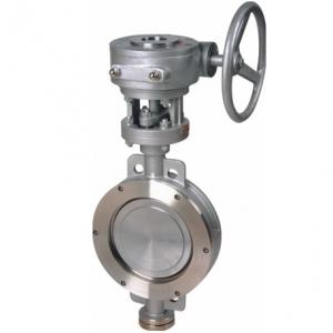 D373H-16P Wafer stainless steel butterfly valve