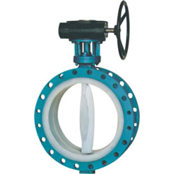 D341F4-10C full lined PTFE butterfly valve