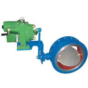 Regulating electric butterfly valve