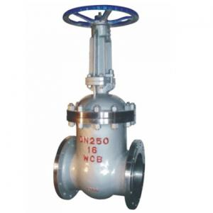 Flange wedge gate valve