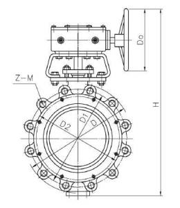 Lug type metal seat butterfly valve
