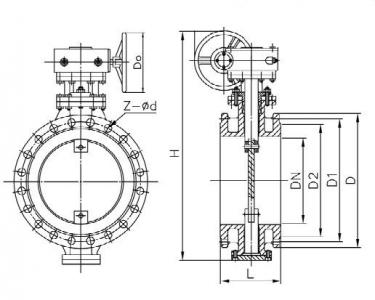 Exhaust gas butterfly valve