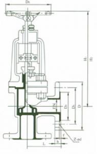 J44H Angle type gliobe valve