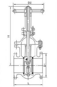 Z44T-10 cast iron gate valve