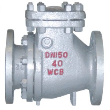 Slag discharge check valve