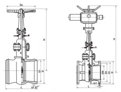 DSZ964H Electric water seal gate valve