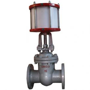 Z641H Pneumatic actuator gate valve