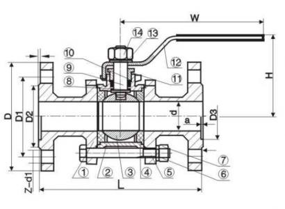 Q41F Flanged ball valve
