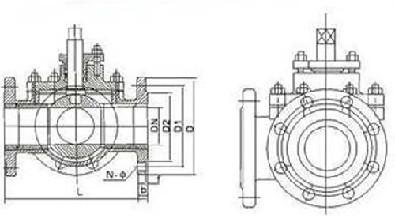 Q44F Q45F 3 way ball valve