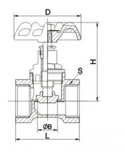 J11W-16T Screw brass globe valve