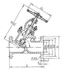 J45H Y type globe valve
