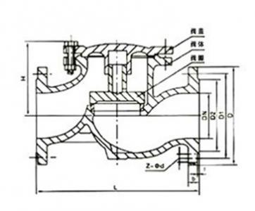 H41T Cast iron lift check valve