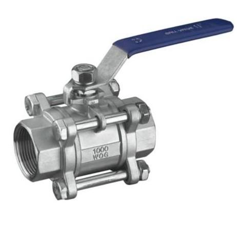 Three pieces ball valve