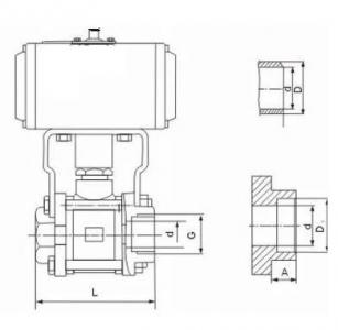 Q611F Pneumatic three pieces ball valve