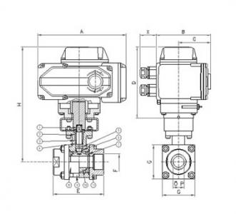 Q911F Electric ball valve