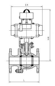 Q641H-16C Pneumatic metal seat ball valve