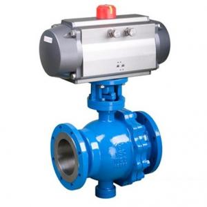 Q647F Pneumatic trunnion mounted ball valve