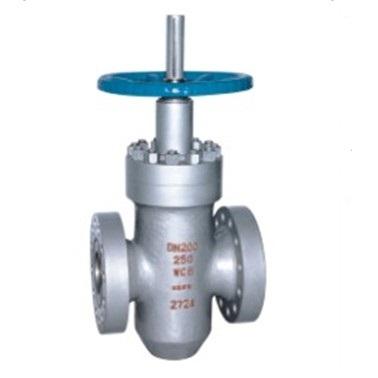 High pressure flat gate valve