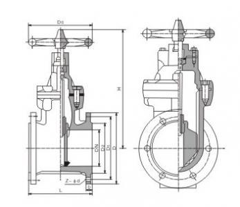 Z45X Rubber seat gate valve