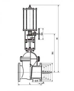 PZ641H Pneumatic slag discharge gate valve