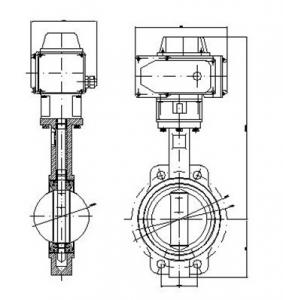 D971J Electric concentric butterfly valve