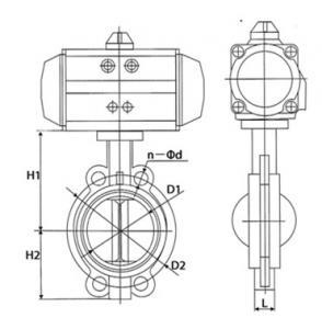 D671X-10 Pneumatic wafer butterfly valve
