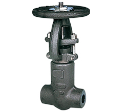 Pressure self-sealing forged gate valve