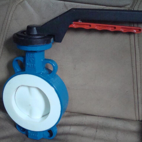 Full PTFE coated butterfly valve