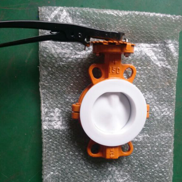PTFE F4 Lined butterfly valve