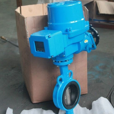 D971J Electric wafer butterfly valve