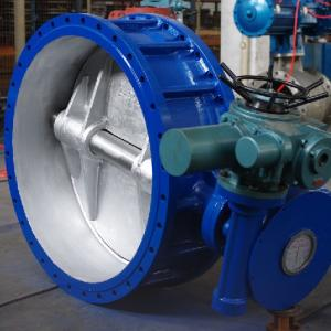 Big diameter electric butterfly valve