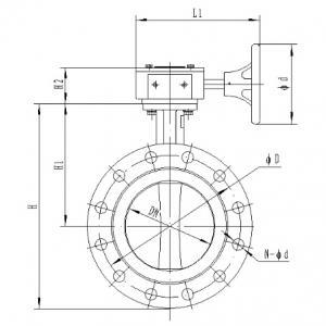 D341J-16C Butterfly valve