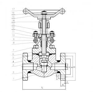 A105 Forged globe valve