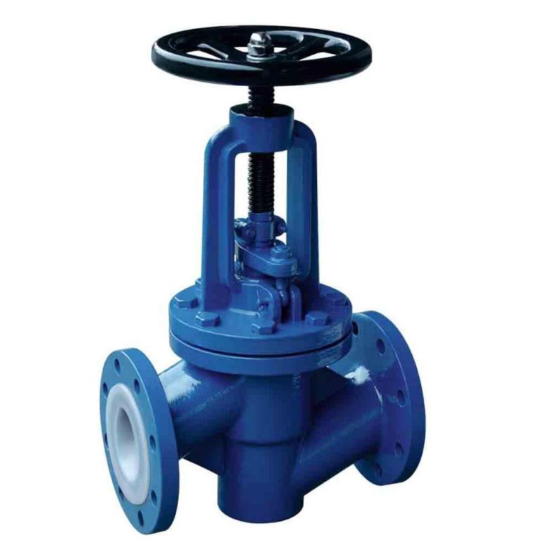 PTFE PFA FEP Fluorine Lined Globe valve