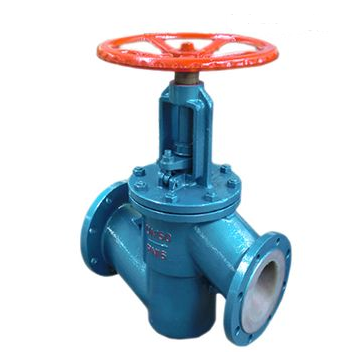 Through way fluorine lined globe valve
