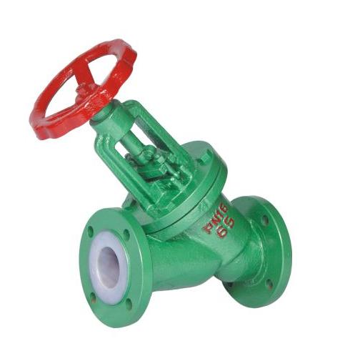 Y type PTFE lined globe valve