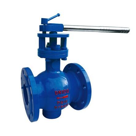 Lever type segmented ball valve