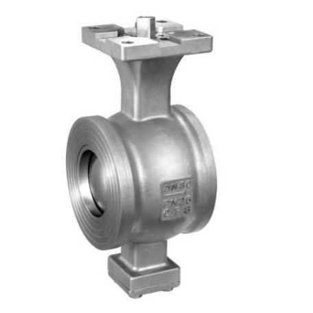 Wafer type segmented ball valve